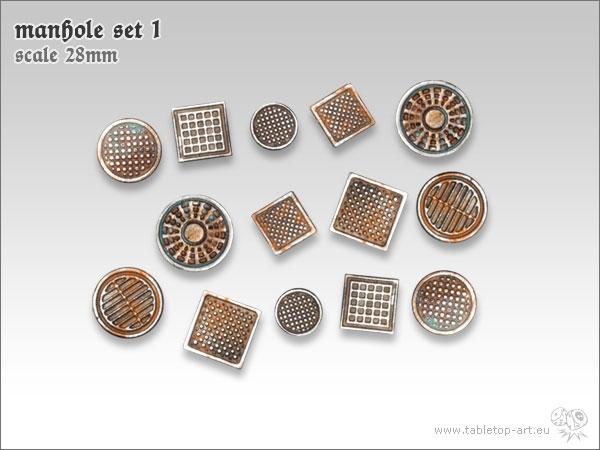 manhole tabletop art