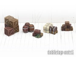 Stacked boxes and barrels set 1 (5)