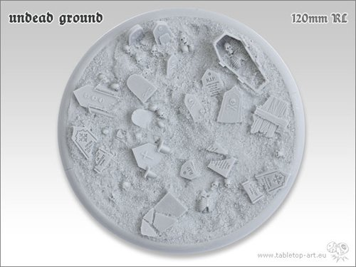 Undead Ground Bases - 120mm RL 1